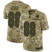 Wholesale Cheap Nike Dolphins #88 Mike Gesicki Camo Men's Stitched NFL Limited 2018 Salute To Service Jersey