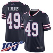 Wholesale Cheap Nike Bills #49 Tremaine Edmunds Navy Men's Stitched NFL Limited Inverted Legend 100th Season Jersey