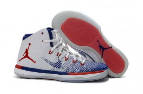 Wholesale Cheap Womens Air Jordan 31 USA Olympic White/Blue-Red