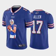 Wholesale Cheap Men's Buffalo Bills #17 Josh Allen Royal Blue Player Portrait Edition 2020 Vapor Untouchable Stitched NFL Nike Limited Jersey