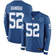 Wholesale Cheap Nike Colts #52 Ben Banogu Royal Blue Team Color Men's Stitched NFL Limited Therma Long Sleeve Jersey