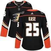 Wholesale Cheap Adidas Ducks #25 Ondrej Kase Black Home Authentic Women's Stitched NHL Jersey