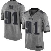 Wholesale Cheap Nike Eagles #91 Fletcher Cox Gray Men's Stitched NFL Limited Gridiron Gray Jersey