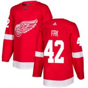 Wholesale Cheap Adidas Red Wings #42 Martin Frk Red Home Authentic Stitched NHL Jersey
