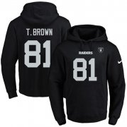Wholesale Cheap Nike Raiders #81 Tim Brown Black Name & Number Pullover NFL Hoodie
