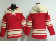 Wholesale Cheap Nationals Blank Red Sawyer Hooded Sweatshirt MLB Hoodie