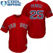 Wholesale Cheap Red Sox #25 Steve Pearce Red New Cool Base 2018 World Series Champions Stitched MLB Jersey