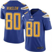 Wholesale Cheap Nike Chargers #80 Kellen Winslow Electric Blue Youth Stitched NFL Limited Rush Jersey