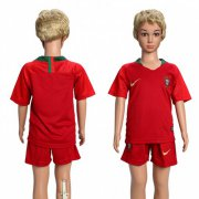 Wholesale Cheap Portugal Blank Home Kid Soccer Country Jersey