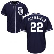 Wholesale Cheap Padres #22 Christian Villanueva Navy Blue New Cool Base Stitched MLB Jersey