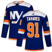 Wholesale Cheap Adidas Islanders #91 John Tavares Blue Authentic Alternate Stitched NHL Jersey