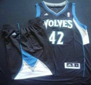 Wholesale Cheap Minnesota Timberwolves 42 Kevin Love Black Revolution 30 Swingman NBA Suits