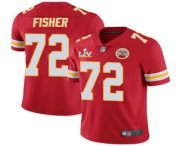 Wholesale Cheap Men's Kansas City Chiefs #72 Eric Fisher Red 2021 Super Bowl LV Limited Stitched NFL Jersey