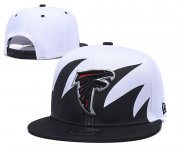 Wholesale Cheap Falcons Team Logo Black White Adjustable Hat
