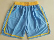 Wholesale Cheap Men's Los Angeles Lakers Nike Light Blue Swingman Basketball Shorts