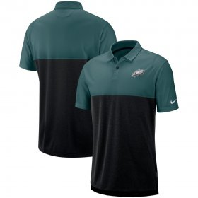 Wholesale Cheap Philadelphia Eagles Nike Sideline Early Season Performance Polo Midnight Green Black