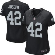 Wholesale Cheap Nike Raiders #42 Karl Joseph Black Team Color Women's Stitched NFL Elite Jersey