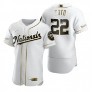 Wholesale Cheap Washington Nationals #22 Juan Soto White Nike Men's Authentic Golden Edition MLB Jersey