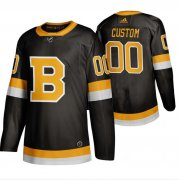 Wholesale Cheap Boston Bruins Custom Black 2019-20 Third Stitched NHL Jersey