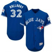 Wholesale Cheap Blue Jays #32 Roy Halladay Blue Flexbase Authentic Collection Stitched MLB Jersey