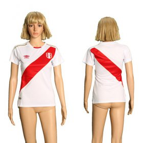 Wholesale Cheap Women\'s Peru Blank Home Soccer Country Jersey