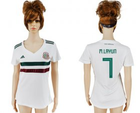 Wholesale Cheap Women\'s Mexico #7 M.Layun Away Soccer Country Jersey