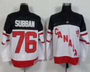 Wholesale Cheap Olympic CA. #76 P.K Subban White 100th Anniversary Stitched NHL Jersey