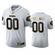 Wholesale Cheap San Francisco 49ers Custom Men's Nike White Golden Edition Vapor Limited NFL 100 Jersey
