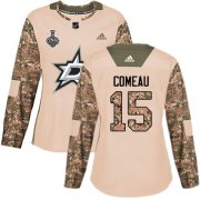 Cheap Adidas Stars #15 Blake Comeau Camo Authentic 2017 Veterans Day Women's 2020 Stanley Cup Final Stitched NHL Jersey