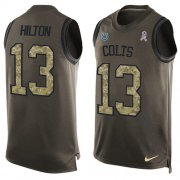 Wholesale Cheap Nike Colts #13 T.Y. Hilton Green Men's Stitched NFL Limited Salute To Service Tank Top Jersey