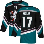 Wholesale Cheap Adidas Ducks #17 Ryan Kesler Black/Teal Alternate Authentic Stitched NHL Jersey