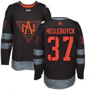 Wholesale Cheap Team North America #37 Connor Hellebuyck Black 2016 World Cup Stitched Youth NHL Jersey