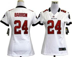 Wholesale Cheap Nike Buccaneers #24 Mark Barron White Women\'s Stitched NFL Elite Jersey