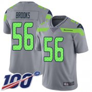 Wholesale Cheap Nike Seahawks #56 Jordyn Brooks Gray Men's Stitched NFL Limited Inverted Legend 100th Season Jersey
