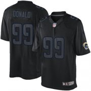 Wholesale Cheap Nike Rams #99 Aaron Donald Black Men's Stitched NFL Impact Limited Jersey