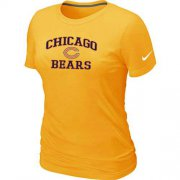 Wholesale Cheap Women's Nike Chicago Bears Heart & Soul NFL T-Shirt Yellow