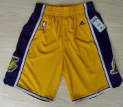 Wholesale Cheap Los Angeles Lakers Yellow Short