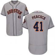 Wholesale Cheap Astros #41 Brad Peacock Grey Flexbase Authentic Collection Stitched MLB Jersey