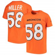 Wholesale Cheap Nike Denver Broncos #58 Von Miller Youth Player Pride 3.0 Name & Number T-Shirt Orange