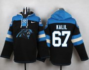 Wholesale Cheap Nike Panthers #67 Ryan Kalil Black Player Pullover NFL Hoodie