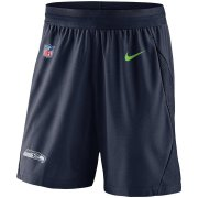 Wholesale Cheap Seattle Seahawks Nike Sideline Fly Performance Knit Shorts Navy