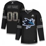 Wholesale Cheap Men's Adidas Sharks Personalized Authentic Black Classic NHL Jersey