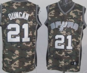 Wholesale Cheap San Antonio Spurs #21 Tim Duncan Camo Fashion Jersey
