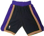 Wholesale Cheap Men's Los Angeles Lakers Black Hardwood Classics Soul Swingman Throwback Shorts