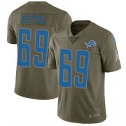Wholesale Cheap Nike Lions #69 Anthony Zettel Olive Youth Stitched NFL Limited 2017 Salute to Service Jersey