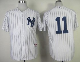 Wholesale Cheap Yankees #11 Brett Gardner White Stitched MLB Jersey