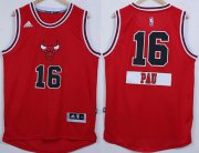 Wholesale Cheap Chicago Bulls #16 Pau Gasol Revolution 30 Swingman 2014 Christmas Day Red Jersey