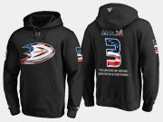 Wholesale Cheap Ducks #3 Kevin Bieksa NHL Banner Wave Usa Flag Black Hoodie