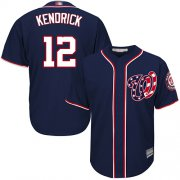 Wholesale Cheap Nationals #12 Howie Kendrick Navy Blue Cool Base Stitched MLB Jersey