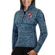 Wholesale Cheap New Jersey Devils Antigua Women's Fortune 1/2-Zip Pullover Sweater Royal